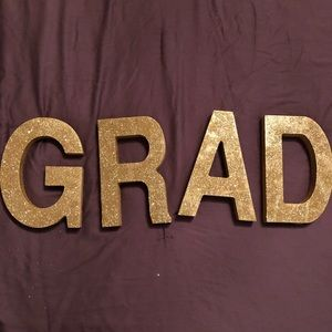 "Wooden ""GRAD"" Letters"